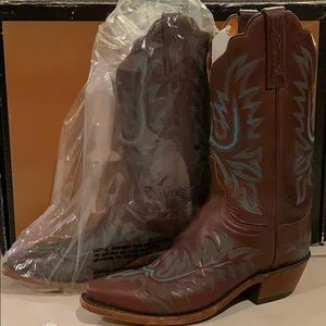 Women's Lucchese Snipped Toe Western Boots